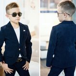 Школьный костюм на мальчика темно синий вельветовый мальчику костюм