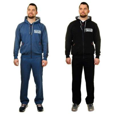 Спортивный костюм мужской   с 48 по 58   Черный, синий