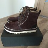 Оригинал ugg зимние ботинки нат замша us 13 стелька 31 см