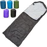 Спальный мешок одеяло с капюшоном 0561 спальник размер 210x70см, от 10 до -10