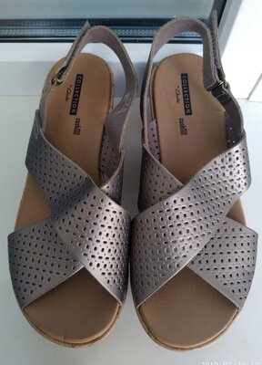 женские сандалии босоножки Clarks cushion soft р. 38 стелька 24.5 см