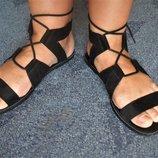 Стильные босоножки, римские сандалии New look р.40 стелька 26,5 см, широка нога
