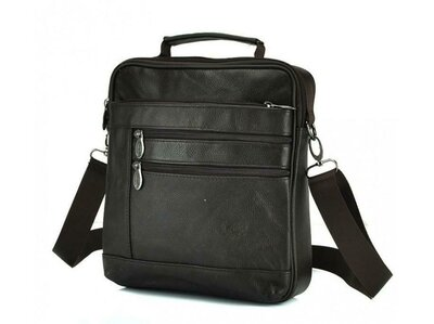Мессенджер кожаный HD Leather NM24-108C сумка через плечо