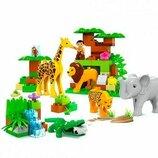 Конструктор JDLT 5286 Зоопарк 83 Дет. Конструктор аналог Lego Duplo. Конструктор аналог Лего Дупло.