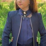 Пиджак черный синий на девочку в школу Пиджак школьный