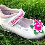 Кожаные туфли Фламинго