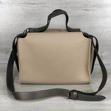 Супер стильная женская сумка 2в1 крем