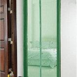 Москитная сетка на магнитах 210х120 магнитные ленты раздельные магниты зеленая
