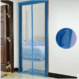 Москитная сетка на магнитах 210х100 синяя