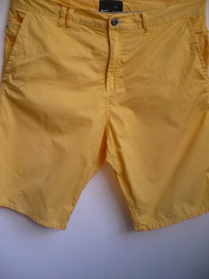 Мужские шорты, желтые, хлопок, р. 34