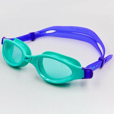 Очки для плавания Speedo Futura Plus Junior 10B858 от 6 до 14 лет фиолетово-бирюзовый