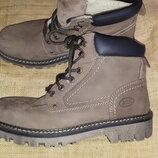 44р-29 см нубуковая кожа ботинки зима AM company