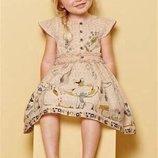 платье нарядное пышное котон 12-18 мес Некст сток большой выбор одежды 1-16лет