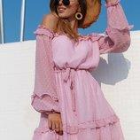 Красивое легкое платье две расцветки