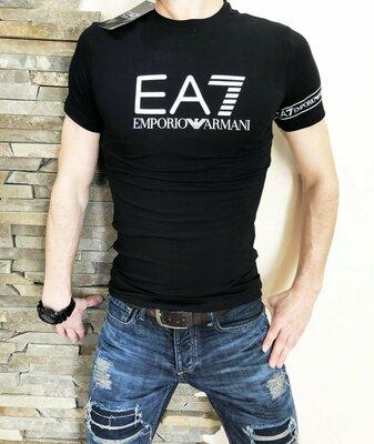 Футболка EA7 black черная