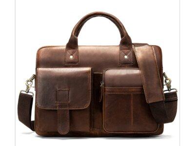 Кожаная сумка для ноутбука Бесплатная доставка мужской портфель Bx8503C натуральная кожа