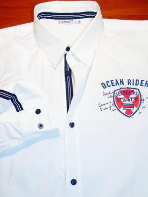 LIVERGY Шикарная белая рубашка - M - L