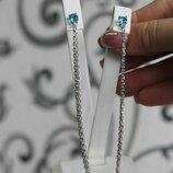Жіночі срібні сережки висюльки, женские серебряные серьги гвоздики протяжки