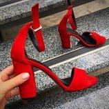 Viva лето женские стильные красные босоножки каблук 10 см натуральная кожа замша туфли Viva стиль