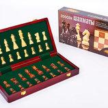 Настольная игра деревянные шахматы 3118 размер доски 35х35см