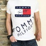 Футболка Tommy Hilfiger white белая, Турция