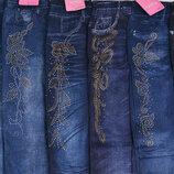 Джеггинсы лосины со стразами 44-52 размер