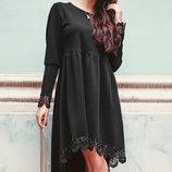 Женское платье свободного кроя S-XL.