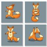 Набор Для Росписи По Номерам. Полиптих YOGA-FOX KNP011 4 шт. Картина по номерам Идейка.