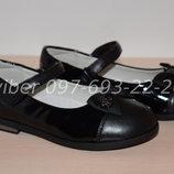 Туфли школьные на девочку черные Tom.m арт.3737-В р.28-33 туфлі чорні шкільні том м