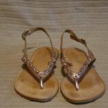 Утонченные кожаные босоножки бронзового цвета Warehouse Англия 39 р.