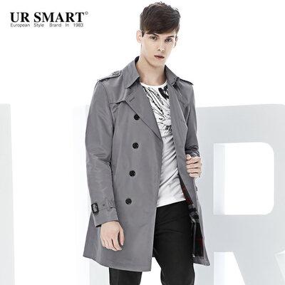 мужская классическая легкая куртка тренч короткий плащ от Polo Villae USA