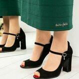 Код 5013 Шикарные туфли с ремешком вокруг ножки с открытым носком
