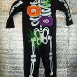 Карнавальный костюм George 1-2года Привидение Скелет Halloween Хэллоуин