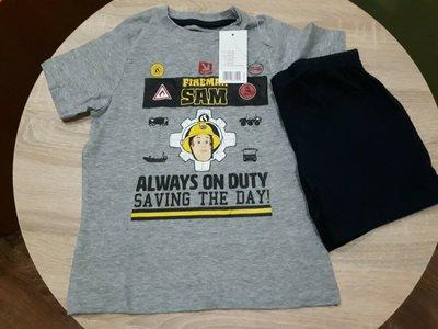 Комплект шорты футболка на 2-4 года пр-во Германия пижама костюм пожарный Сэм fireman Sam