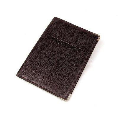 Обложка для паспорта кожаная коричневая Desisan 019, Турция