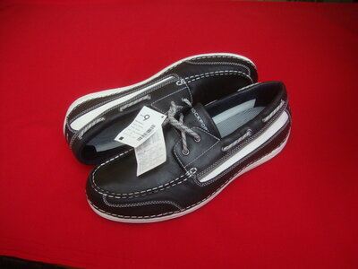 Туфли топсайдеры Adidas оригинал натур кожа 43-44 размер