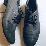 Женские туфли на шнурках, р 37, кожа натуральная
