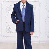 Школьный качественный костюм на мальчика 6,7,8,9,10,11 лет Синий