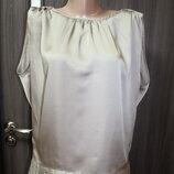 атласная блузка Mina uk в идеальном состоянии L-XL