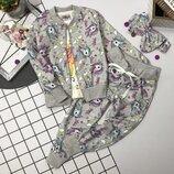Модный костюм 4ка кофта реглан штаны повязка