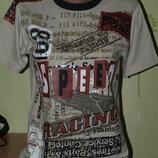 Бомбезная футболка в идеале мальчишке 138- 146 -X-Mail
