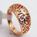 Позолоченное кольцо код 556