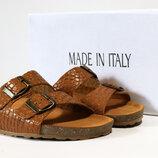 Женские шлепанцы Made in Italy Италия натуральная кожа 38-40