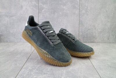 Кроссовки мужские Adidas Kamanda серые замш