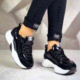 Кроссовки, натуральная замша, в стиле Chanel, черные