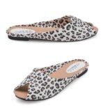 Шлепанцы женские леопард Б767
