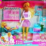 Кукла Defa 8408 Стоматолог детский с девочкой