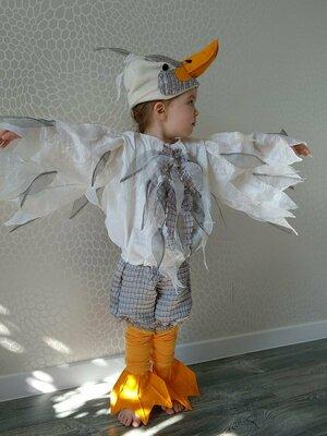 Прокат детский карнавальный костюм сірий гусь, гусак,гуска,гусеня на утренник, девочка, мальчик Киев