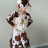 Прокат детский карнавальный, маскарадный костюм корова, коровка, корівка на утренник, девочке Киев
