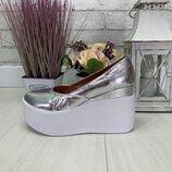 Туфли на платформе, натуральная кожа и замш, много расцветок